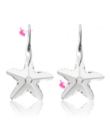 Orecchini con Ciondolo Swarovski Starfish Crystal (Esempio Bijoux)