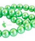 Perle 10 mm Vetro Cerato colore Verde Chiaro (20 pezzi)