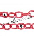 Catena Zigrinata Nido d'Ape 13x9 mm Alluminio Rosso