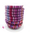 Cordoncino Tondo Etnico 6,5 mm Multicolor Vari Colori (1 metro)