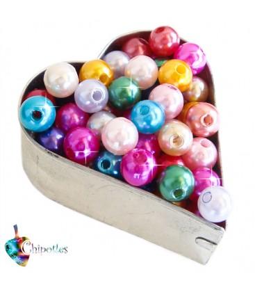 Perle 8 mm Acrilico colore Vari Colori (100 pezzi)