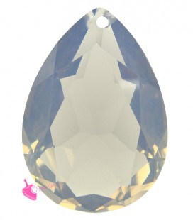 Pendente Goccia Resina 25x18 mm White Opal
