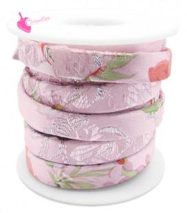 Cordoncino Piatto 10 mm Fantasia Kimono Rosa