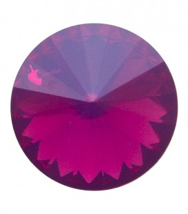 Rivoli in Resina 12 mm Fuchsia Opal