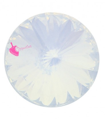 Rivoli in Resina 12 mm White Opal