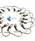 Monachelle per orecchini color bronzo antico (100 pezzi)