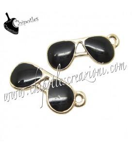 Ciondolo Occhiali Smaltati 18x7 mm Vari Colori