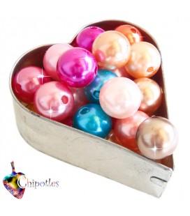 Perle 12 mm Acrilico Colori Misti (10 pezzi)