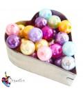 Perle 10 mm Acrilico Colori Misti (20 pezzi)