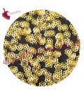 Coppette Copriperla 6 mm Lisce color Oro (2000 pezzi)