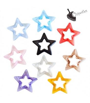 Perla Stella 33x35x8 mm Acrilico vari Colori (10 pezzi)
