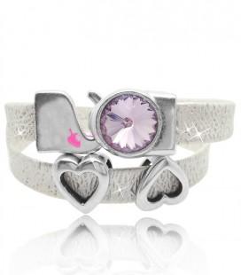 Kit Bracciale Cordoncino Glitter colore Rosa (Esempio Bijoux)