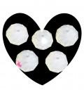 Perle Rondelle Mezzo Cristallo 10 mm Vari Colori (1 filo)