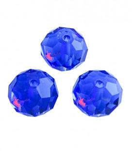 Perle Rondelle Mezzo Cristallo 10 mm Sapphire