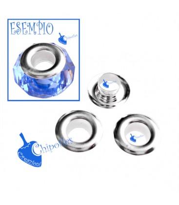 Core di Metallo per Perle Foro Largo  (50 pezzi)