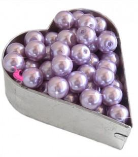 Perle 8 mm Vetro Cerato color Malva (100 pezzi)