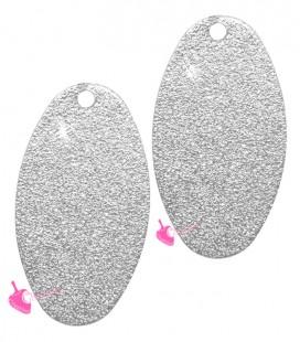 Ciondolo Ovale Glitter 23x12 mm Vari Colori