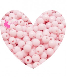 Perle Acrilico 6 mm Rosa Pastello (100 pezzi)