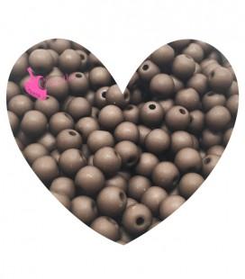 Perle Acrilico Opache 6 mm Marrone Cioccolato (100 pezzi)