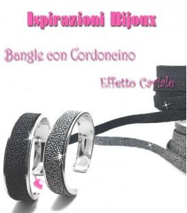 Kit Bangle Bracciale Effetto Caviale
