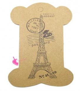 Espositore Rocchetto Cartoncino con Torre Eiffel 105x78 mm