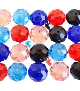 Confezione Ingrosso 20 Perle 16mm Mezzo Cristallo