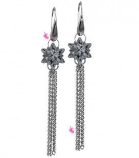 Kit Bijoux Orecchini Pendenti con SWAROVSKI® Edelweiss Crystal Silver Night