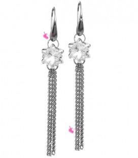 Kit Bijoux Orecchini Pendenti con SWAROVSKI® Edelweiss Crystal