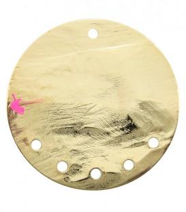 Cerchio Martellato con 5 Fori 40 mm Ottone colore Oro Chiaro