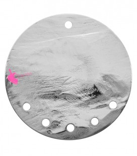 Cerchio Martellato con 5 Fori 40 mm Ottone Vari Colori