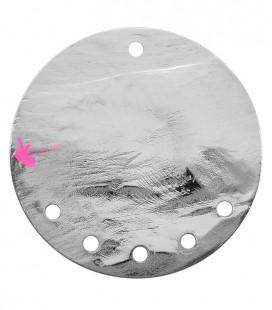 Cerchio Martellato con 5 Fori 40 mm Ottone colore Acciaio