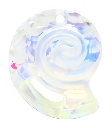 Ciondolo Sea Snail PF Swarovski® 6731 28 mm Crystal AB