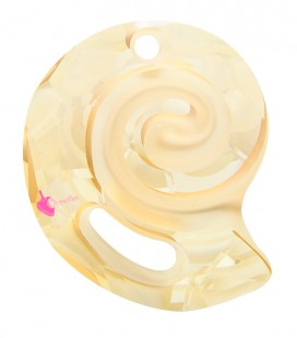 Ciondolo Sea Snail PF Swarovski® 6731 28 mm Crystal Golden Shadow