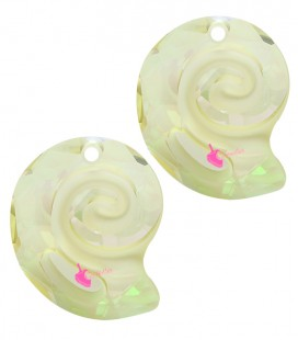Ciondolo Sea Snail PF Swarovski® 6731 14 mm Crystal Luminous Green