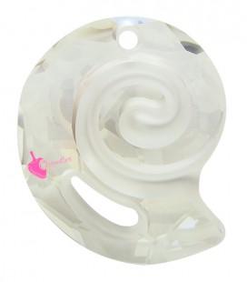 Ciondolo Sea Snail PF Swarovski® 6731 28 mm Crystal Silver Shade
