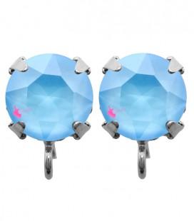 Base Orecchini a Perno con Swarovski SS39 Crystal Summer Blue