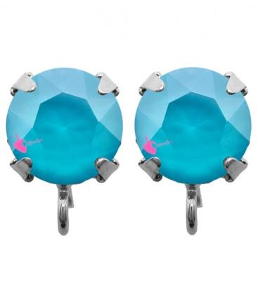 Base Orecchini a Perno con Swarovski SS39 Crystal Azure Blue