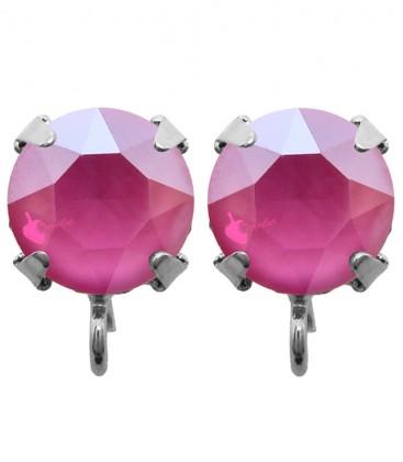 Base Orecchini a Perno con Swarovski SS39 Crystal Peony Pink
