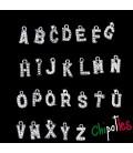 Ciondolo Lettera Alfabeto con Strass a scelta