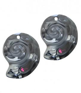Ciondolo Sea Snail PF Swarovski® 6731 14 mm Crystal Silver Night