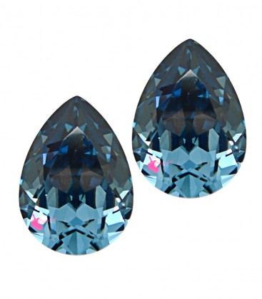 Goccia Swarovski® 4320 14x10 mm Denim Blue