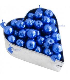 Perle 8 mm Vetro Cerato colore Blu (100 pezzi)