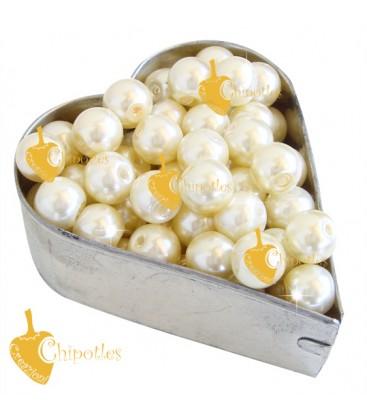 Perle 8 mm Vetro Cerato colore Crema