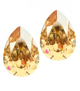 Goccia Swarovski® 4320 14x10 mm Crystal Golden Shadow