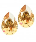 Goccia Swarovski® 4320 14x10 mm Crystal Golden Shadow Unfoiled