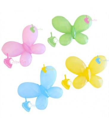 Perle Miste Farfalla Opache 30x23 mm Acrilico