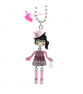 Collana Bambola Bambolina con Occhiali Vari Colori