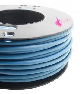 Cordoncino PVC 4 mm Forato colore Blu Avio (1 metro)