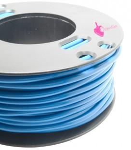 Cordoncino PVC 4 mm Forato colore Capri Blu (1 metro)