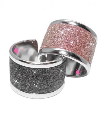 Kit Bijoux Anello a Fascia Effetto Glitter Vari Colori